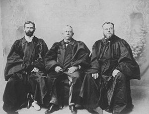 William Austin Whiting - William Austin Whiting (right) as Second Associate Justice of the Hawaii Supreme Court with Chief Justice Albert Francis Judd and First Associate Justice Walter F. Frear