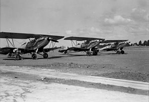 No. 6 Squadron RAF - Hawker Hardy aircraft operating from RAF Ramleh airfield in the 1930s