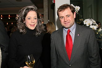 Lobbying in the United States - Connections count: Congressman Tom Perriello with lobbyist Heather Podesta at an inauguration party for Barack Obama.