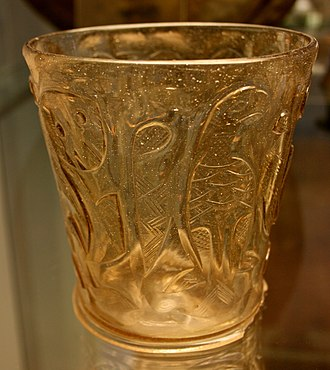 Islamic glass - One of the Hedwig glasses imitating rock crystal and exported to Europe
