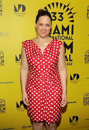 Heidi Ewing - Ewing at the Miami Film Festival presentation of Norman Lear: Just Another Version of You