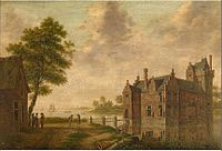 Hendrik Frans de Cort - View of Carmosteyn Castle in Hombeek.jpg