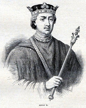 Siege of Oxford (1142) - King Henry II, as imagined in Cassell's History of England in 1865