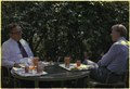 Henry Kissinger and Jimmy Carter during a lunch meeting on the White House patio. - NARA - 175921.tif
