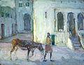 Henry Ossawa Tanner - Street Scene, Tangier (Man Leading Calf).jpg
