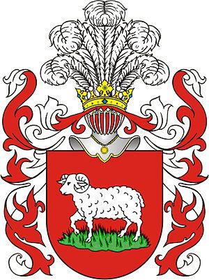 Feliks Sobański - Junosza arms (Sobański family crest)
