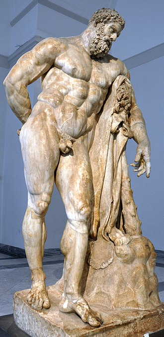 Baths of Caracalla - One of the statues that adorned the baths was the Farnese Hercules, now at Naples.