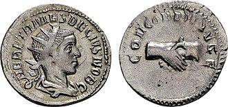Decius - Coin of Herennius Etruscus