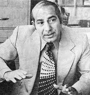 Heshmat Mohajerani - Mohajerani in 1977 after match against Hungary