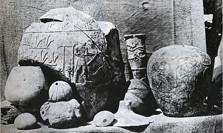 Hierakonpolis objects at time of discovery Hierakonpolis objects at time of discovery.jpg