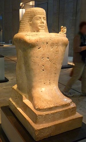 Bakenkhonsu - Block statue of Bakenkhonsu at Munich.