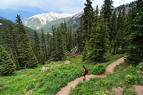 Hiking in the San Juan Mountains, Colorado Hiking to the Ice Lakes. San Juan National Forest, Colorado.jpg