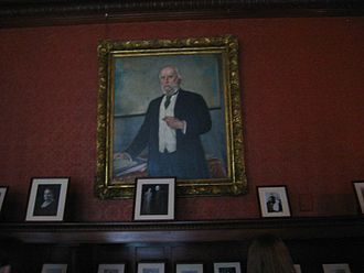 James J. Hill - Portrait of Hill now hung in the library of his former home.