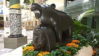 Hillsdale Shopping Center - Bufano sculpture