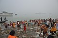 Hindu Devotees Taking Holy Dip In Ganga - Makar Sankranti Observance - Baje Kadamtala Ghat - Kolkata 2018-01-14 6842.JPG