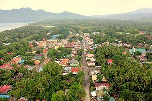 Hinunangan, Southern Leyte - Aerial view of Hinunangan