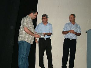 Hisham Zreiq - Hisham Zreiq Honored by Ramiz Jaraisy the mayor of Nazareth and Dr. Hana Sweid a Knesset member