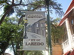 Historic district sign, Laredo, TX IMG 7656