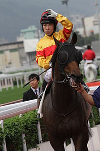 Hong Kong Jockey Ben So Tik Hung in Sha Tin Racecourse 14 March 2010.JPG