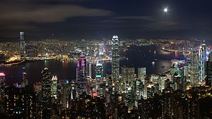 Nightscape - Nightscape of Victoria Harbour from Victoria Peak, Hong Kong