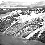 Hoonah Glacier, tidewater glacier terminus and glacial remnents, September 17, 1966 (GLACIERS 5472).jpg