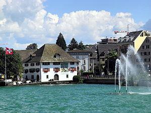 Horgen - Sust & Springbrunnen - Zürichsee - Dampfschiff Stadt Zürich 2012-07-22 16-15-57 (P7000).JPG