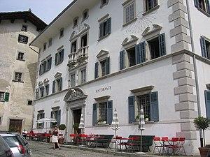 Soglio, Switzerland - Image: Hotel Palazzo Salis Exterior