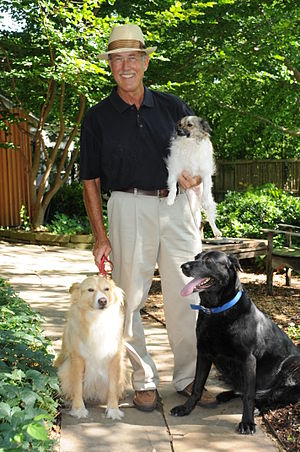 Howard Garrett - Rescued pets Hannah,Tater(held),Carmen