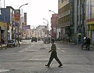 Huacho - Street view.
