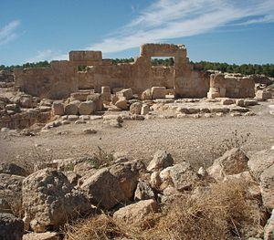 Livne - Ruins of Hurvat Anim ancient synagogue near Shani-Livne