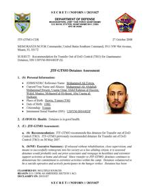 ISN 00440, Mohammed Ali Fowza's Guantanamo detainee assessment.pdf