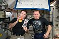 ISS-50 Birthday of astronaut Thomas Pesquet in the Unity module.jpg