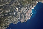 ISS-56 Monaco, Mediterranean coast.jpg