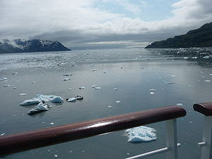 Icebergs in the Yakutat Bay, Alaska