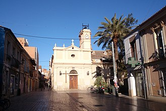 Benimaclet - Plaça de Benimaclet with Iglesia Parroquial de la Asuncion de Nuestra Señora
