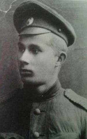 Iivo Ahava - Iivo Ahava as a Royal Navy lieutenant in 1918
