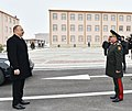 Ilham Aliyev attended opening of soldier dormitory and military-household complex in military unit of Detached Combined Arms Army.jpg