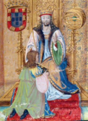 John II of Portugal - King John II in Chronica d'El-Rei D. João II; Rui de Pina, c. 1497-1504.
