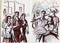Ilustrace - Czechoslovak students. Working Youth In Czechoslovakia, 1948. Illustrations by Otokar Štembera (3882443326).jpg
