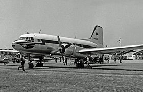 Avia 14 version tchécoslovaque de l'Illiouchine Il-14 au salon du Bourget de 1957