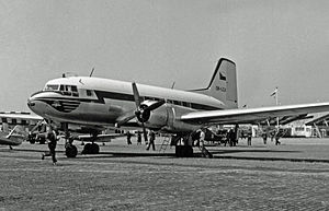 Ilyushin Il-14 - An Avia 14T of CSA displayed at the 1957 Paris Air Show