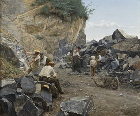 In the Quarry. Motif from Switzerland