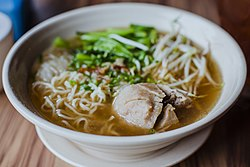 Indonesian bakso, with noodle and bean sprouts, April 2018 (03).jpg