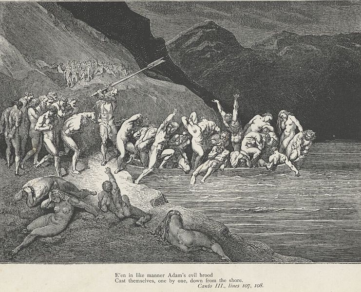 Mitologia - Caronte de Aqueronte 741px-Inferno_Canto_3_Charon_strikes_lines_107-108
