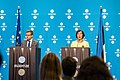 Informal meeting of ministers responsible for competitiveness (research, iCOMPET). Press conference Carlos Moedas and Mailis Reps (35317606074).jpg