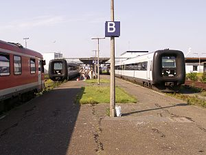 Puttgarden station - Image: Inselbahn fehmarn 004