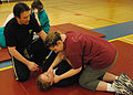 Instructor Paul Hardt supervises students April 17, 2008, during a self defense class at Cannon Air Force Base, N.M. April is Sexual Assault Awareness Month 080417-F-PB969-103.jpg
