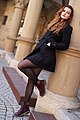 Intentional camera tilt or Dutch angle - example in fashion photography for filling the frame - ModelTanja.jpg