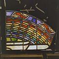 Interieur. Detail glas-in-loodraam van Toorop bij glasatelier Wiegen, Nijmegen - Nijmegen - 20337449 - RCE.jpg