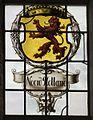 Interieur zuidbeuk, boven het ingangsportaal, detail van het gebrandschilderde raam- Het Laatste Avondmaal - Medemblik - 20528805 - RCE.jpg